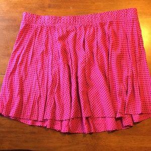 🖤TORRID flirty fun pink skirt w/ black polka dots
